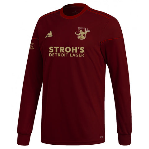 DCFC 2019 Authentic Long Sleeve Home Jersey- Men's - Maroon