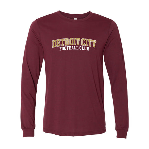 DCFC Collegiate Long Sleeve T-Shirt - Maroon