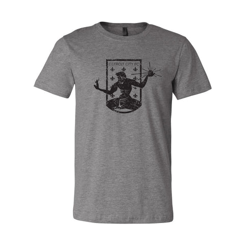 DCFC Crest Distressed T-Shirt - Heather Grey