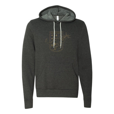 DCFC Outline Hoodie- Dark Heather Grey