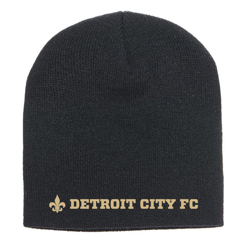 DCFC Knit Beanie- Wordmark- Black