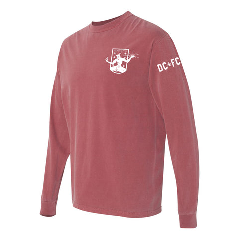 DCFC Crest Long Sleeve - Comfort Colors Brick