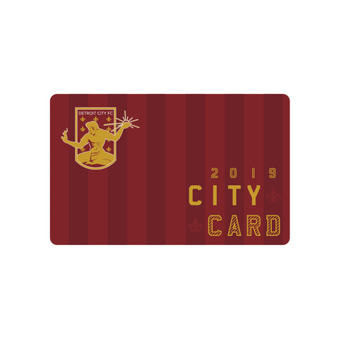 2019 City Card - Season Ticket