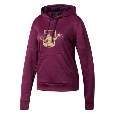 DCFC adidas Women's Hoodie Embroidered Crest- Maroon