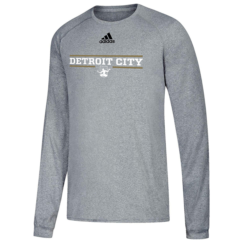 ef9df5039 DCFC adidas Detroit City Climalite Long Sleeve Tee- Athletic Grey – Detroit  City Football Club Store
