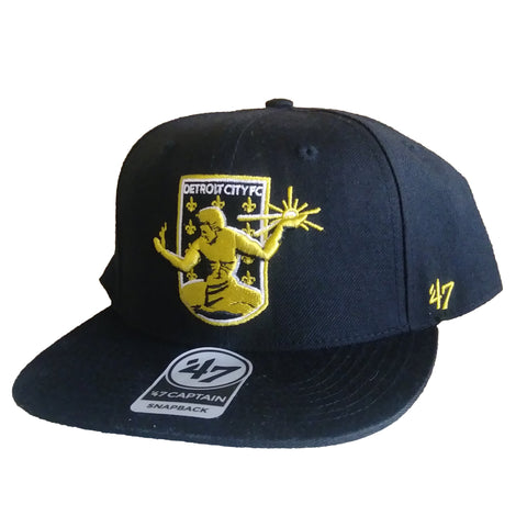 DCFC 47 Brand Adjustable Snapback Hat - Crest Black