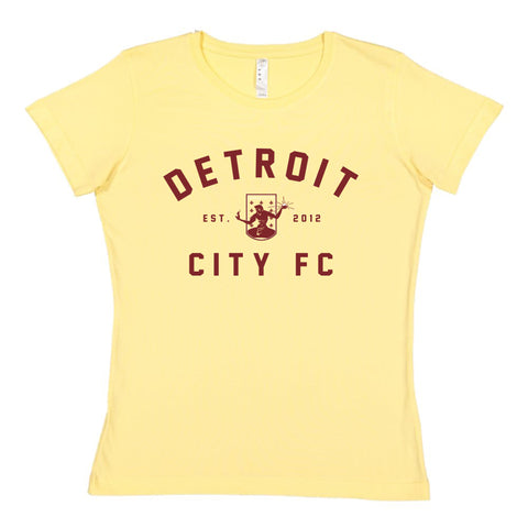 DCFC Est 2012 Women's T-Shirt- Yellow