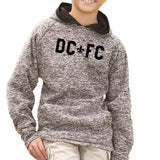DCFC Youth Performance Hoodie - Charcoal Fleck / Black