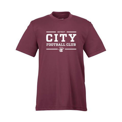 DCFC City Performance Youth T-Shirt - Maroon