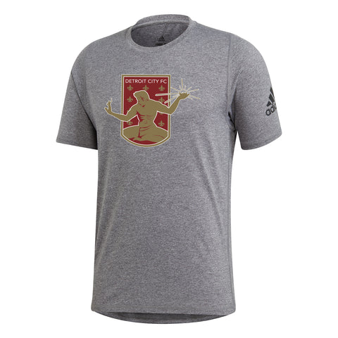 DCFC adidas Tee- Crest- Heather Grey