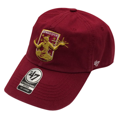 DCFC 47 Brand Fitted Hat- Crest Maroon