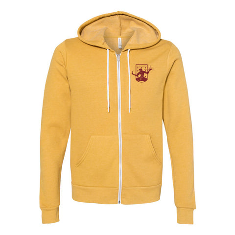 DCFC Crest Full Zip Hoodie - Heather Mustard