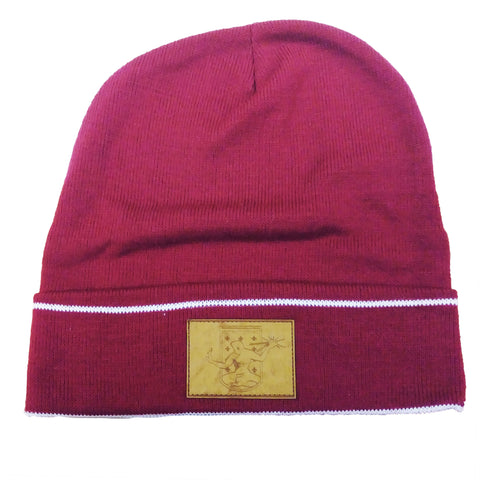 DCFC Knit Hat- Crest Patch- Maroon