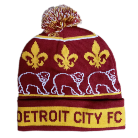 DCFC Friendly the Bear Knit Hat - Maroon