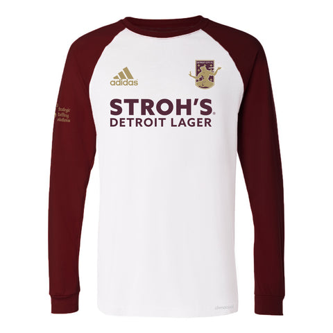 DCFC 2019 Authentic Away Long Sleeve Jersey- Men's- White/Maroon