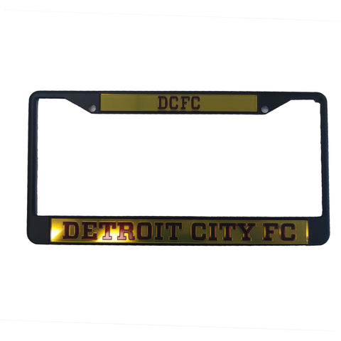 DCFC License Plate Frame- Gold