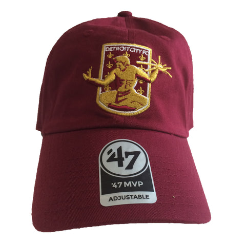 DCFC 47 Brand Adjustable Hat- Crest Maroon