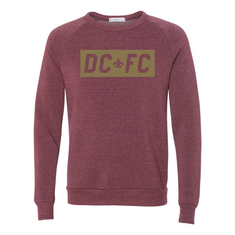 DCFC Block Crew Neck - Heather Maroon