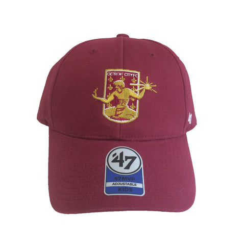 DCFC 47 Brand Youth Adjustable Hat- Crest Maroon