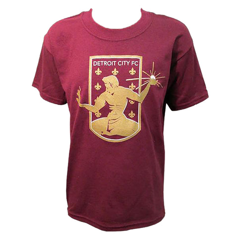 DCFC Youth Crest T-Shirt - maroon
