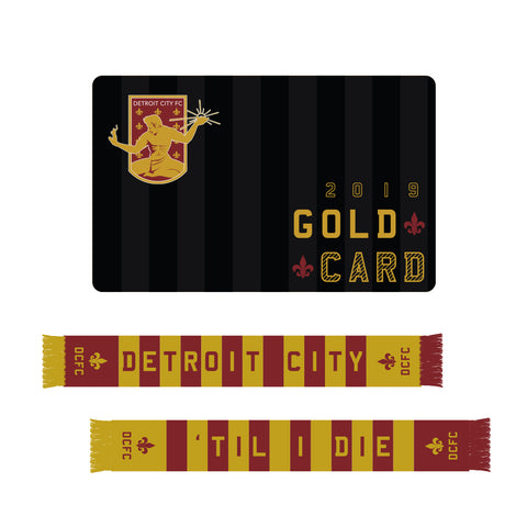 2019 Gold Card - Season Ticket + Scarf