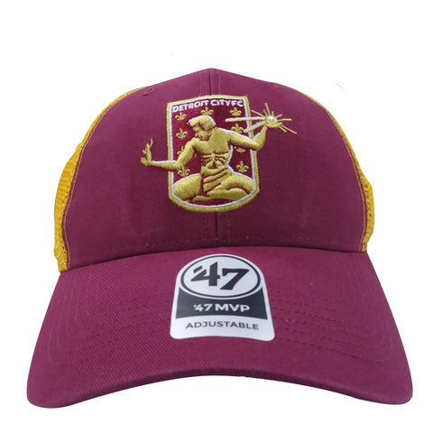 DCFC 47 Brand Adjustable Hat - Crest Trucker Maroon/Gold