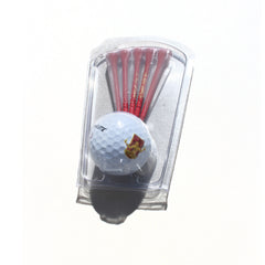 DCFC Golf Ball and Tee Set - White/Maroon