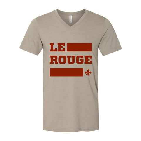 DCFC Le Rouge Pregame V-Neck T-Shirt- Heather Stone