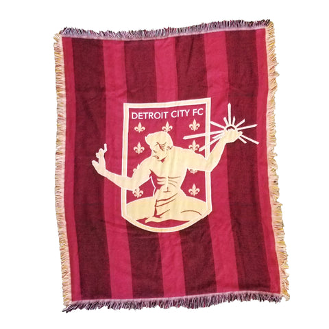 DCFC Blanket - Crest with Jersey Stripe