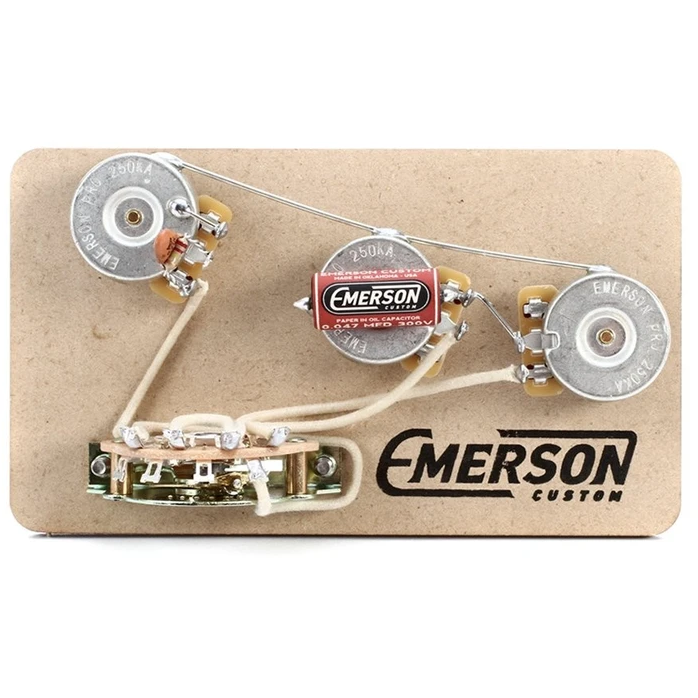 Emerson Custom S5 5-Way 250K Prewired Stratocaster Kit - NathansGear.Co