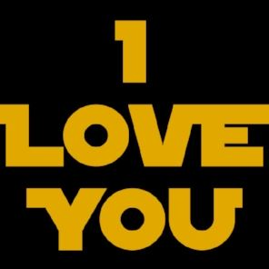 "Yellow and Black ""I love you"" in Star Wars lettering"