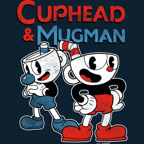 Cuphead and Mugman characters under their names