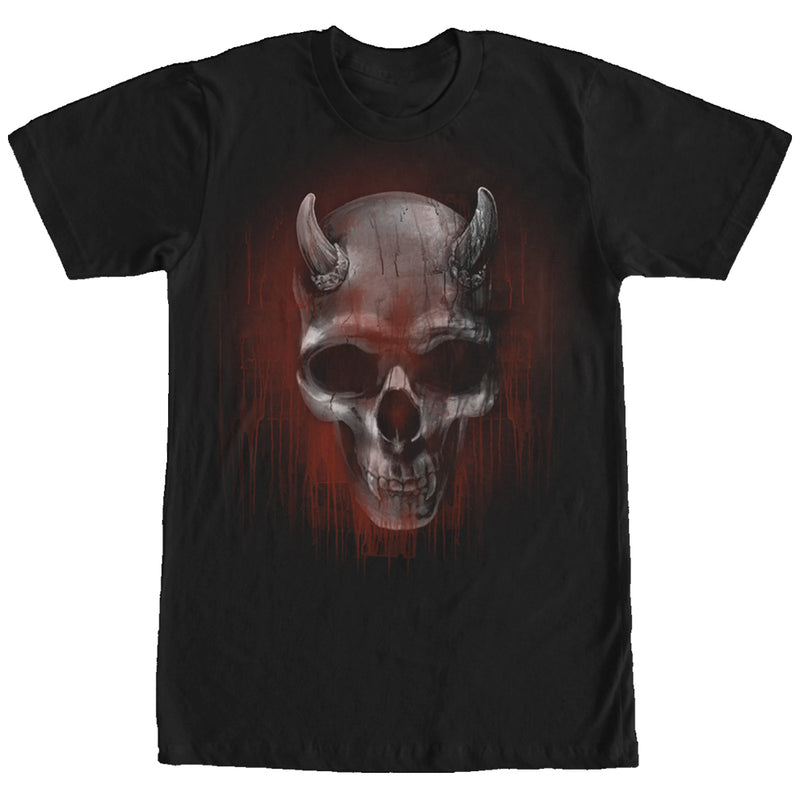 Lost Gods Halloween Horned Skull Mens Graphic T Shirt