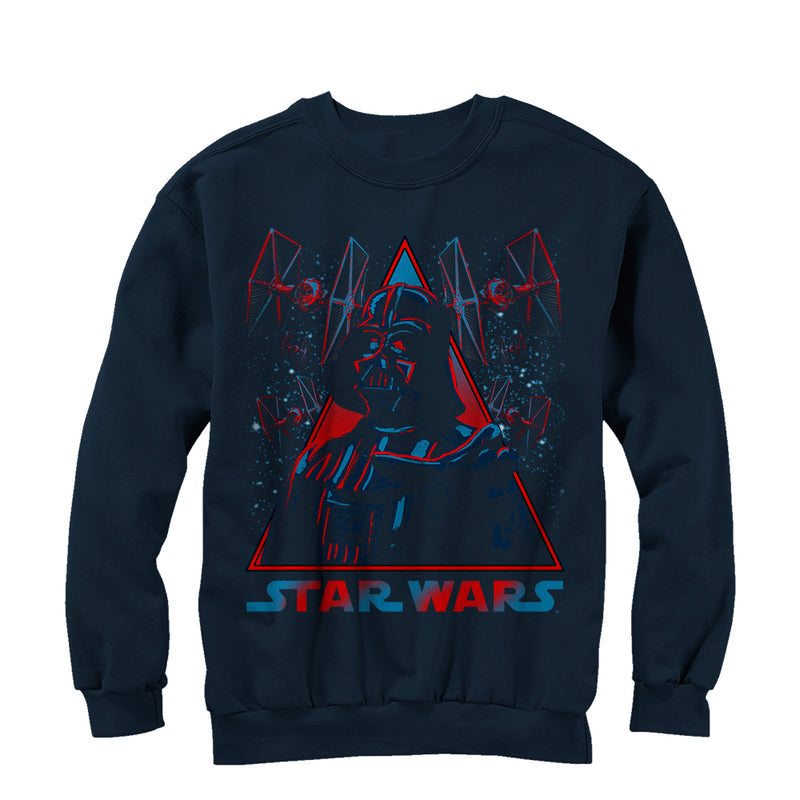 Star Wars Men's Vader TIE Fighter  Sweatshirt  Navy Blue