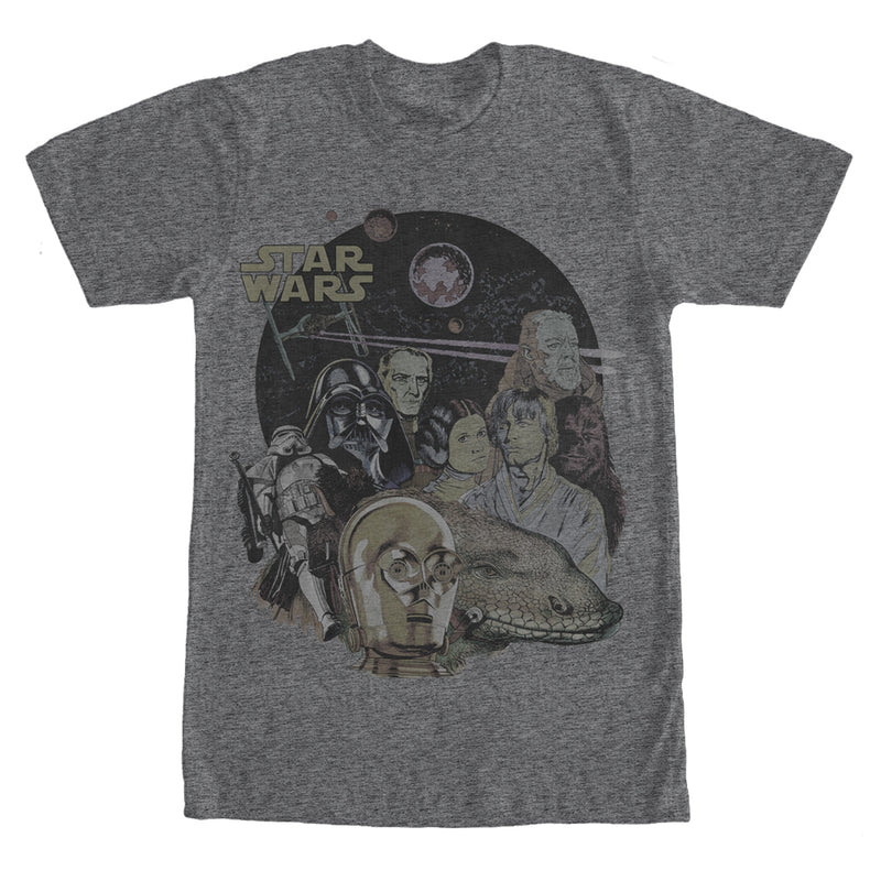 Star Wars Characters and Sandtrooper Mens Graphic T Shirt