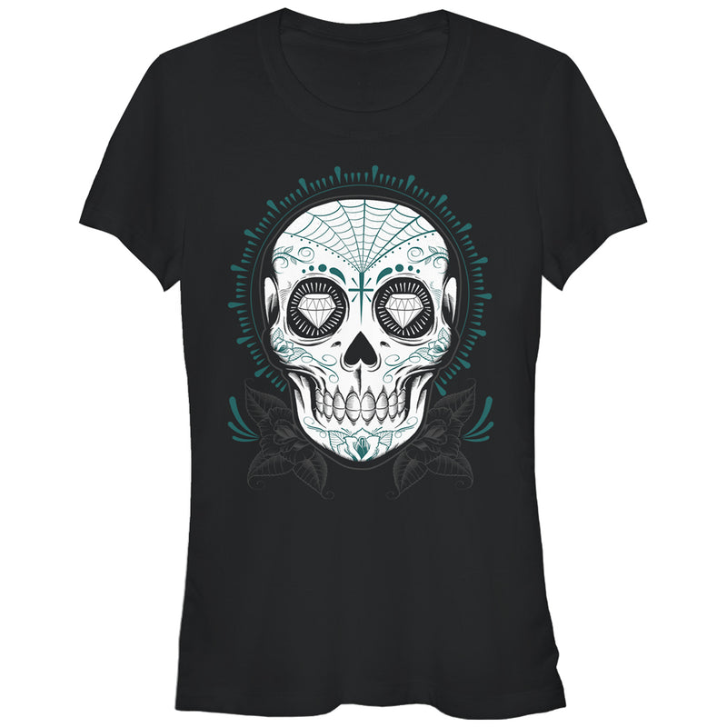 Aztlan Junior's Sugar Skull  T-Shirt  Black  XL