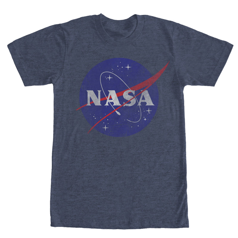 NASA Men's Logo  T-Shirt  Navy Blue Heather  4XL