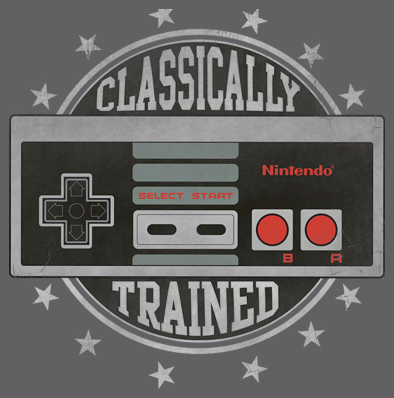 Nintendo Men's Classically Trained  T-Shirt  Charcoal Heather