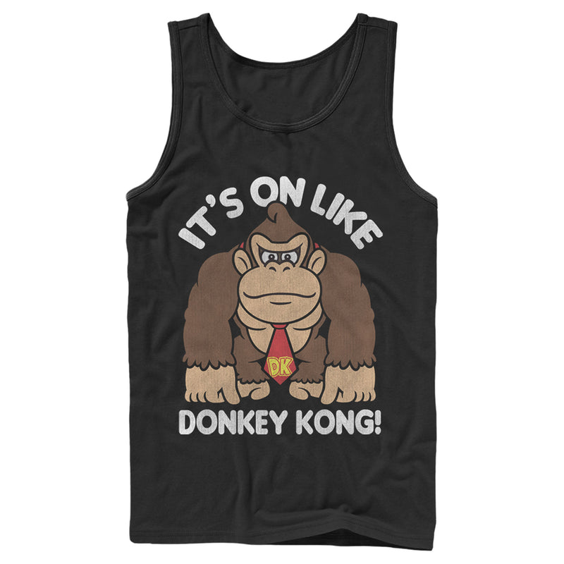 Nintendo Donkey Kong Fist Pump Mens Graphic Tank Top