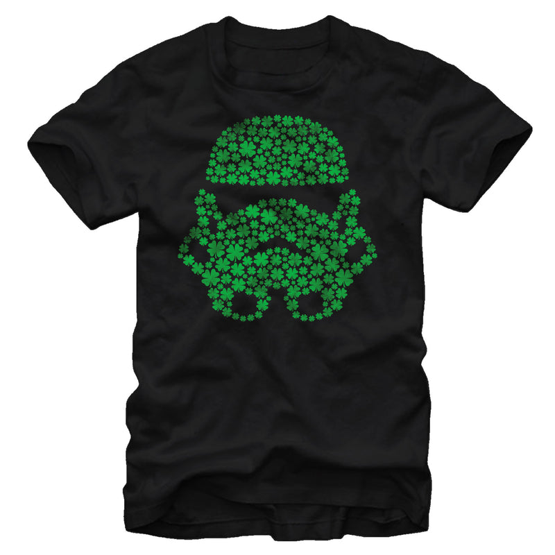 Star Wars Men's St. Patrick's Day Shamrock Stormtrooper  T-Shirt  Black  3XL