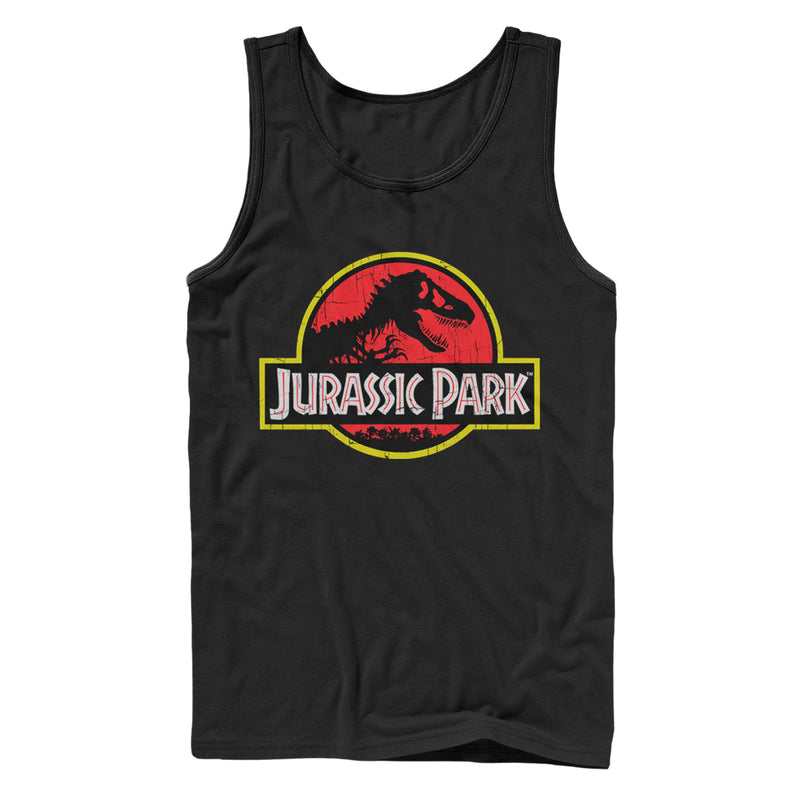 Jurassic Park Men's T Rex Logo  Tank Top  Black  2XL