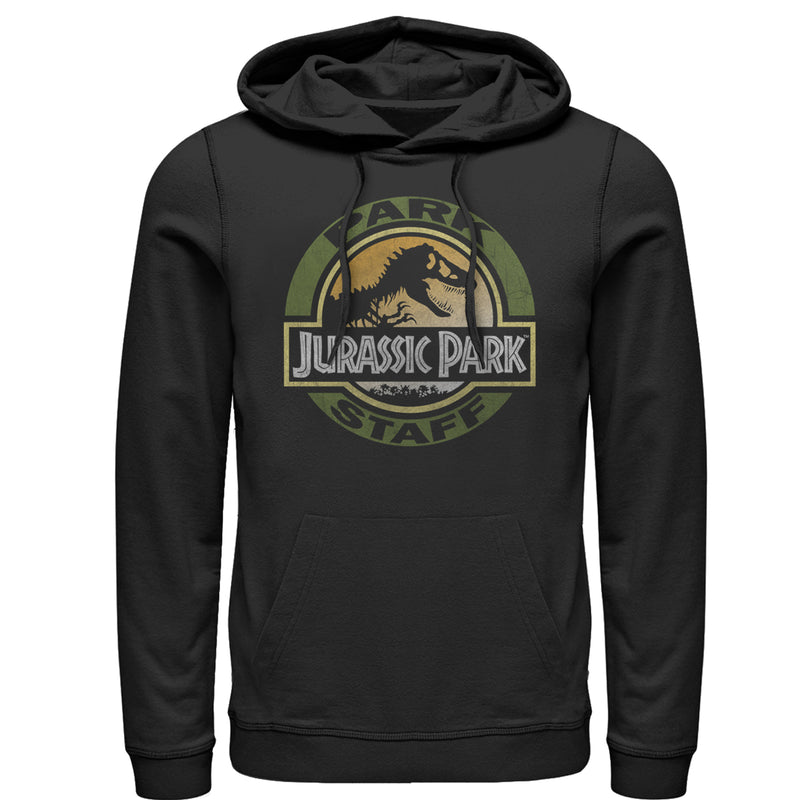 Jurassic Park Men's Staff Badge  Pull Over Hoodie