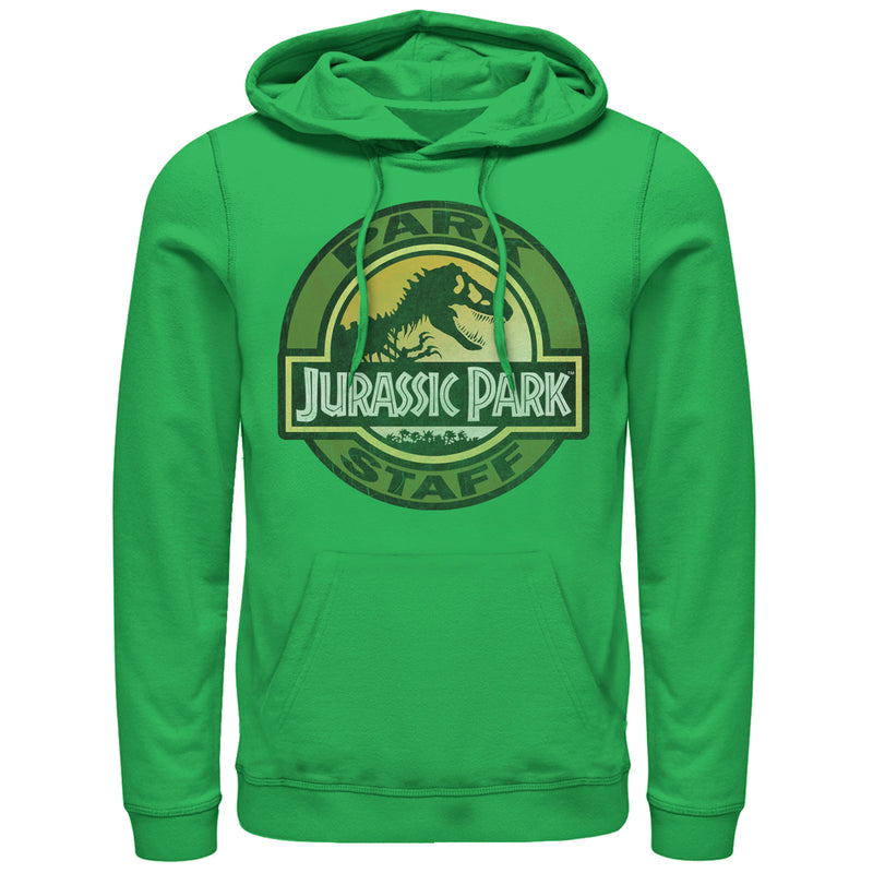 Jurassic Park Staff Badge Mens Graphic Lightweight Hoodie