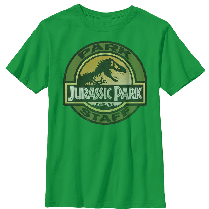 Jurassic Park Boy's Staff Badge  T-Shirt