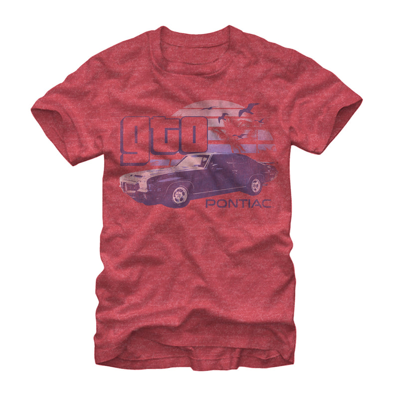 General Motors Men's Pontiac GTO  T-Shirt  Red Heather  2XL