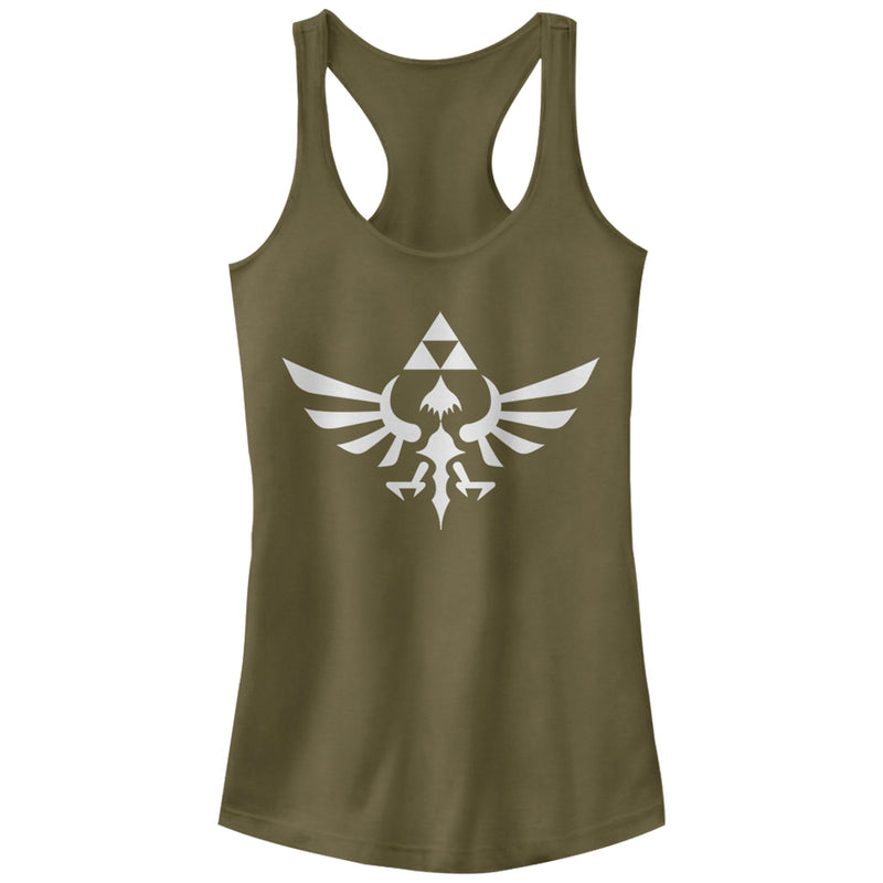 Nintendo Legend of Zelda Triforce Juniors Graphic Racerback Tank