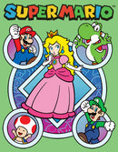Nintendo Girl's Super Mario Princess Peach Friends  T-Shirt  Mint