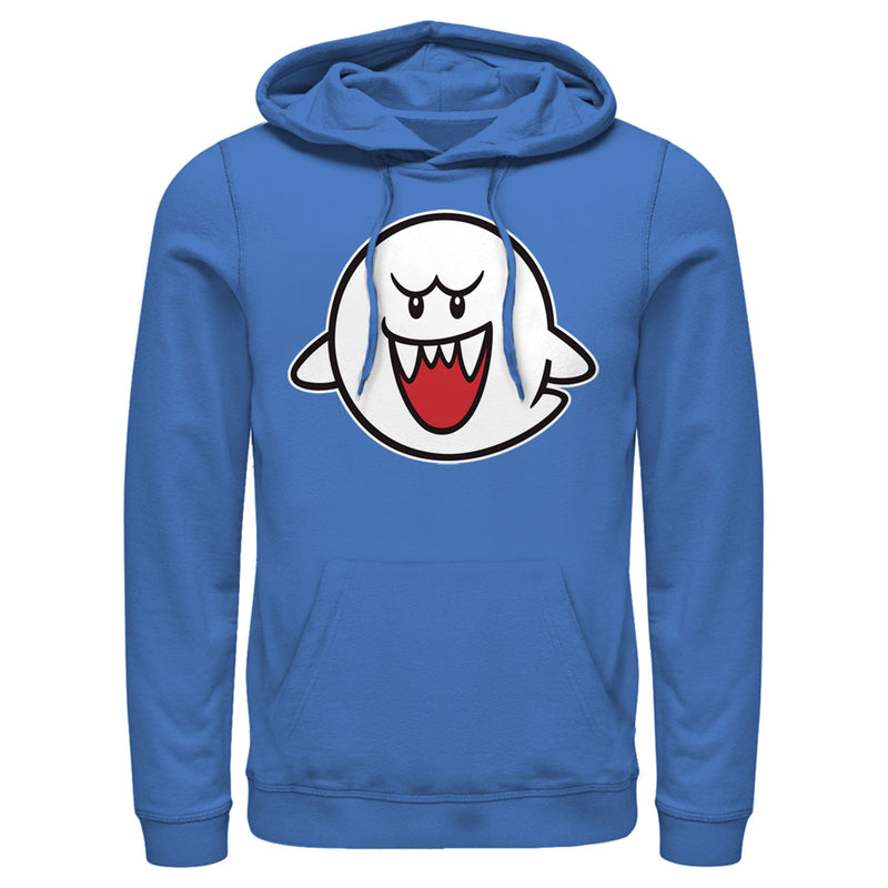 Nintendo Men's Mario Boo Ghost  Pull Over Hoodie  Royal Blue  L