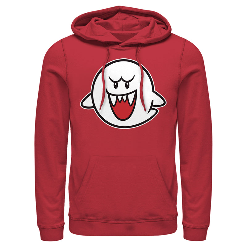 Nintendo Men's Mario Boo Ghost  Pull Over Hoodie  Red  2XL