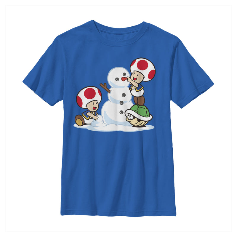 Nintendo Toad Snowman Boys Graphic T Shirt